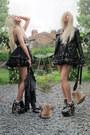 Diy-boots-topshop-jacket-fur-diy-bag-ruffles-american-apparel-skirt
