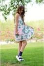 Light-pink-pom-pom-trim-missguided-dress-navy-soxxy-socks