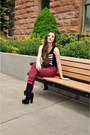 Black-platform-shop-priceless-boots-crimson-high-waisted-pacsun-jeans