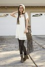 Heather-gray-charlotte-russe-boots-ivory-fevrie-dress