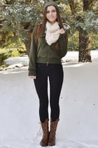 army green military jacket Charlotte Russe jacket