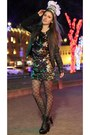 Black-platform-charlotte-russe-boots-gold-sequin-arden-b-dress