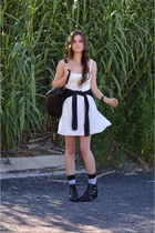 white lace garage dress - black cut out ami clubwear boots