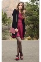 crimson wallet Charlotte Russe bag - crimson skater poof apparel dress