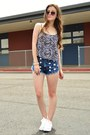 Navy-high-waisted-love-culture-shorts-white-converse-sneakers