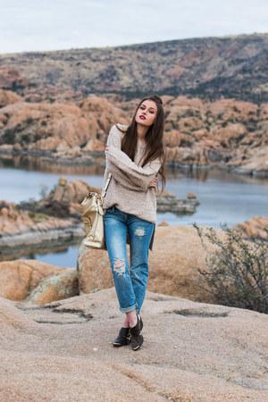 gold Handbag Heaven purse - dark brown Charlotte Russe boots