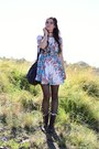 Dark-brown-troopa-steve-madden-boots-ivory-floral-pink-blush-dress