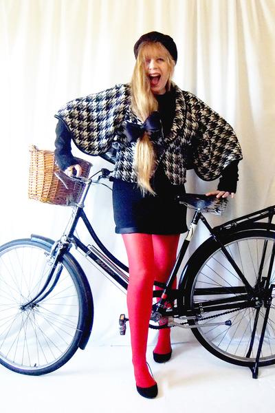 unknown brand coat - st jonns vintage dress - H&M tights