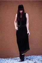 black lace up boots Aldo boots - black Vintage by Shevahh dress