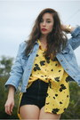 Black-vintage-by-shevahh-shorts-jean-jacket-vintage-gap-jacket