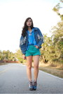 Denim-vintage-vintage-by-shevahh-jacket-turquoise-blue-vintage-shorts