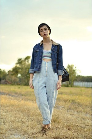 navy jean vacant moon vintage jacket