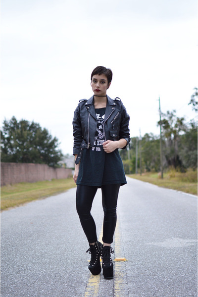 motorcycle vacant moon vintage jacket - hellbounds UNIF heels