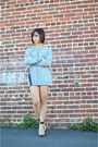 Heather-gray-dress-forever-21-sweater-black-clear-heels-forever-21-heels