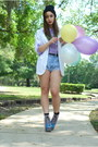 White-vintage-by-shevahh-blazer-light-blue-cut-offs-vintage-guess-shorts