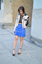 beige tan moto jacket Nasty Gal jacket - black crop Forever 21 top