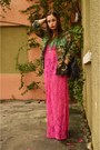 Black-dr-martens-boots-hot-pink-lace-maxi-dress-forever-21-dress