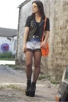 diy dip dyed vintage levis shorts - crash and burn apparel shirt