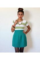 Red Mera Vintage skirt - vintage top - Topshop stockings