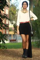 asos heels - DYI vintage skirt - chiffon Red Mera Vintage top