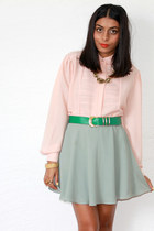 Red Mera Vintage skirt - peach Red Mera Vintage blouse - vintage belt