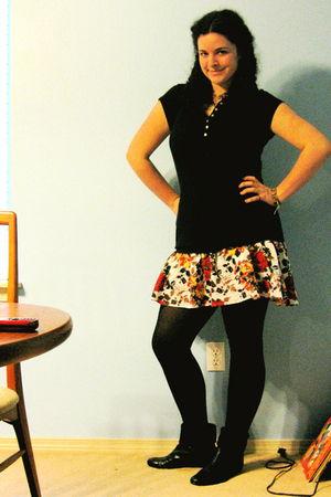 Forever 21 skirt - black boots
