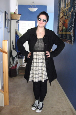 black wool trench Mossimo coat - black Target tights