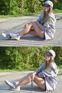 Silver-la-full-cap-hat-navy-new-yorker-shorts-silver-adidas-blouse