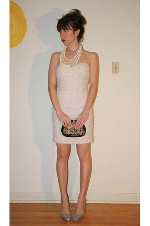 ivory mystic dress - ivory the bay necklace - silver Jerome C Rousseau shoes - n