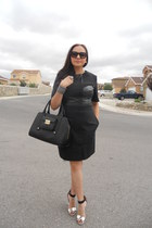 black 31 Phillip Lim dress - black 31 Phillip Lim purse - black GoJane heels