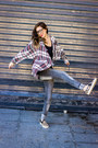 Stradivarius-jeans-leather-choies-sneakers-plaid-little-mistress-cardigan