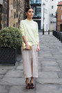 Crimson-kurt-geiger-heels-eggshell-topshop-dress-light-yellow-m-s-jumper