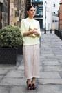 Eggshell-topshop-dress-light-yellow-m-s-jumper-crimson-kurt-geiger-heels