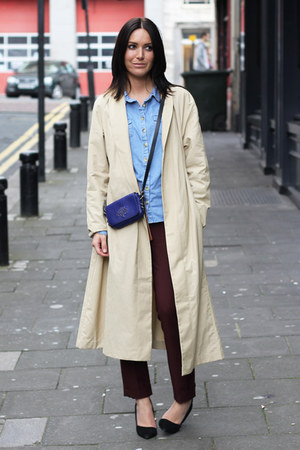 H&amp;M coat - Mulberry bag - Zara pants - Topshop blouse - River Island heels