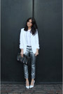 Metallic-zara-jeans-zara-blazer-topshop-bag-topshop-necklace-h-m-t-shirt