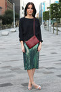 Green-sequin-h-m-trend-skirt-crimson-trio-celine-bag-h-m-earrings