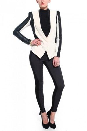 black Scandal pumps - off white Gracia jacket - black Akira pants