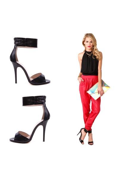 melie bianco purse - black Akira top - red Akira pants