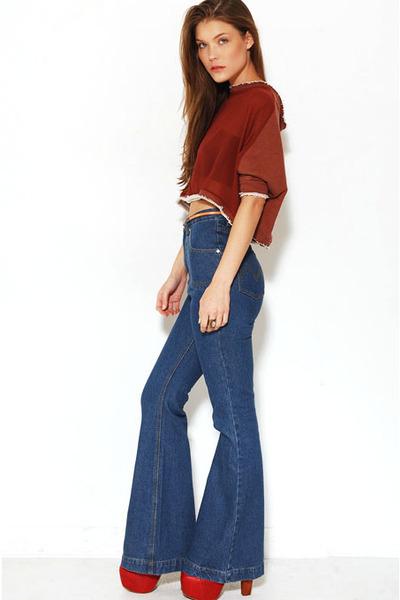Mink Pink pants - Akira blouse - Akira bra - jeffrey campbell lita heels