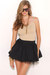black AKIRA Black Label skirt - gold Akira accessories