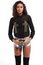 black Akira blouse
