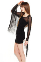 Little Black Dress - Fringe & Mesh