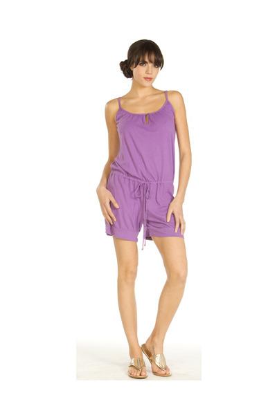 purple romper Velvet by Graham & Spencer shorts