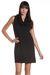 black lamade dress