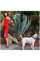 red Michelle Jonas Travelwear dress