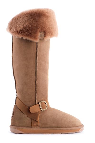 beige sheepskin Emu boots