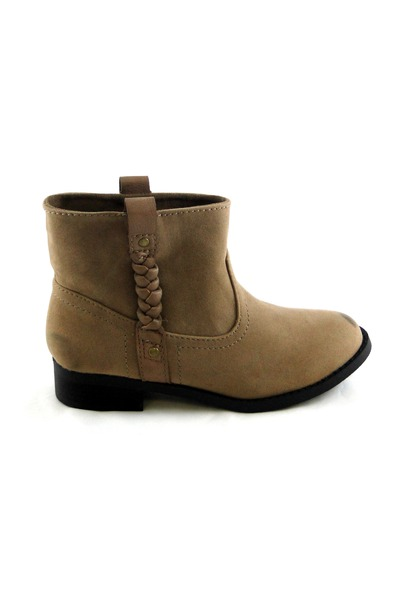 tan faux suede boots