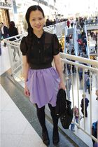 Urban Outfitters shirt - wilfred skirt - Fly London shoes - Wolford tights - Mar