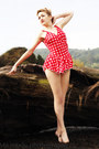 Polka-dots-red-vintage-swimwear