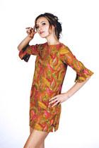geometric print vintage 80s dress